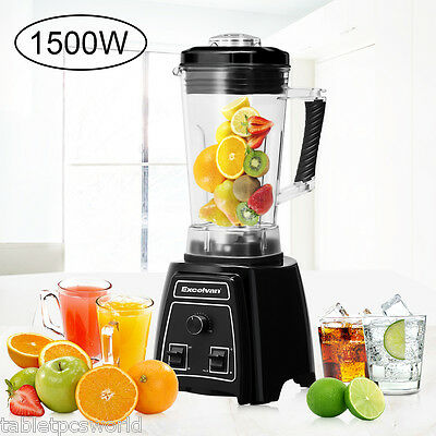 Professional 1500W Electric Blender Food Processor Smoothie Maker W/ Washing Key
