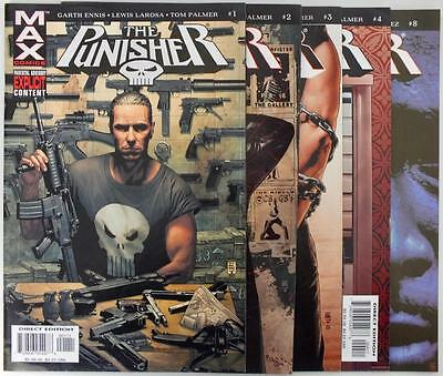 5 issues The Punisher - Marvel Max - Issue # 1,2,3,4,8 - NM/VF (2768)