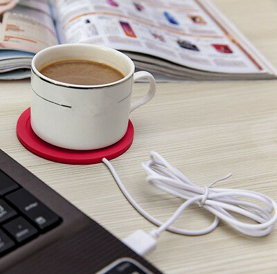 5V USB Silicone Heat Warmer Heater Tea Coffee Mug Hot Drinks Beverage Cup TT
