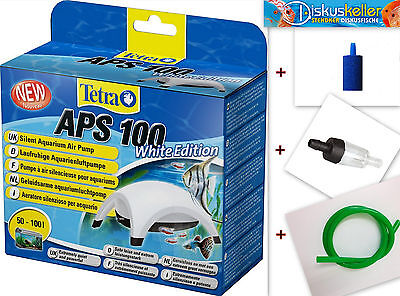 "Tetra APS 100 Aquarienluftpumpe ""white Edition"" sehr leise für 50-100l Aquarium"