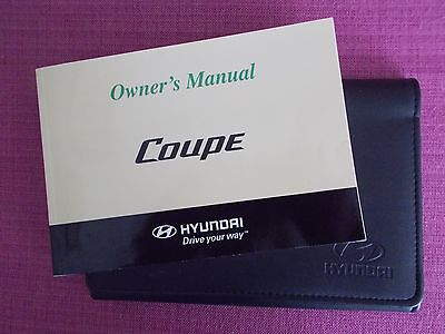 Hyundai Coupe (2007 - 2009) Owners Manual - Owners Guide - Handbook.(Hy 105)