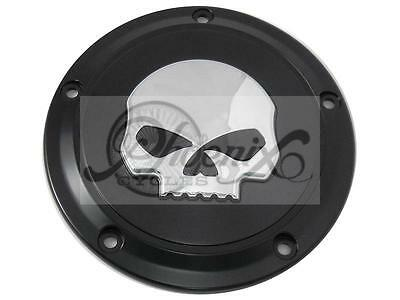 Skull Derby Cover Kupplungsdeckel Harley Dyna Softail Touring Twin Cam ab 1999