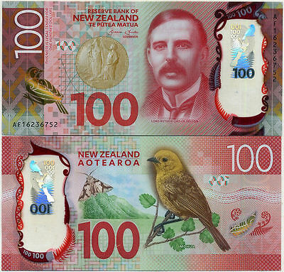 """2016 $100 NEW GEM UNC""New Zealand"" Consecutive numbers One Banknote""New Design"""