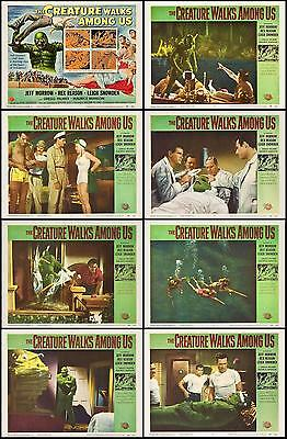 THE CREATURE WALKS AMONG US Complete Set Of 8 Individual 8x10 LC Prints 1956