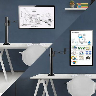 "Double Monitor Arm Desk Mount Computer Screen Bracket Dual Stand 13""-27"" LCD TV"