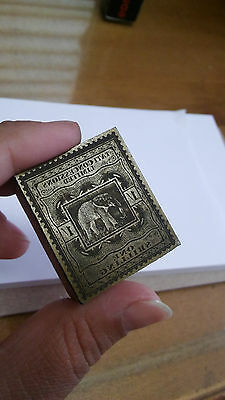 Bechuanaland Tati Concessions Limited One Shilling Revenue 1887 Printing Block