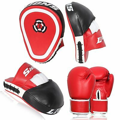 Lions Boxing Focus Pads Jab and Hook Thai Pro Fight Training Punch Gloves MMA