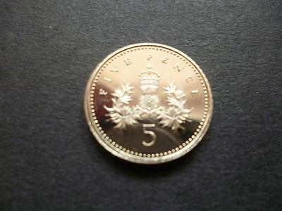1990 Brilliant Uncirculated Five Pence Coin The First Reduced Size Type 1990 5P
