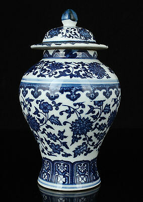 China Collectible Old Handwork Painting Blue And White Porcelain rare Jar