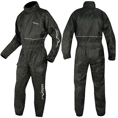 Motorcycle Motorbike Waterproof Rain Suit Over One 1 pc Trousers Jacket