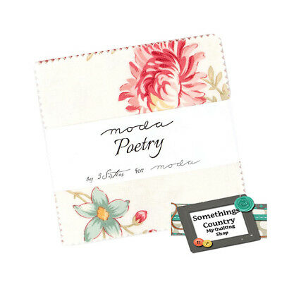 Moda Charm Pack POETRY Patchwork Sewing Quilting 5 inch Squares Fabric New