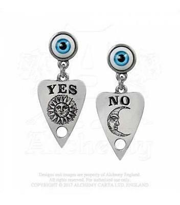 Alchemy Gothic - Ouija Planchette Drop Earrings - Goth Punk Emo Magick New