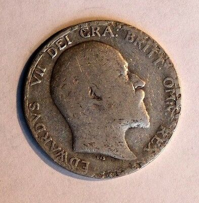 1907 - Edward VII - SILVER - ONE SHILLING COIN - Great Britain