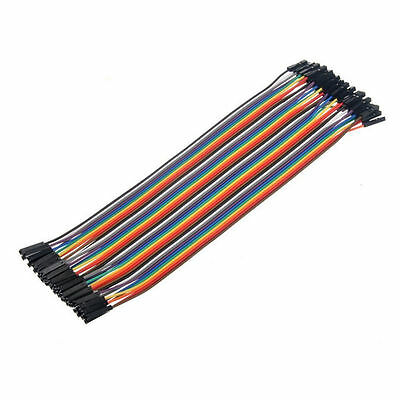 40XDupont Wire Female to Female Breadboard Connector Cable 2.54 1P-1PFor Arduino
