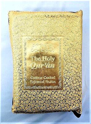 The Holy Quran - Colour Coded Tajweed Rules (Golden Zipped Case) (20x14cm 0012)