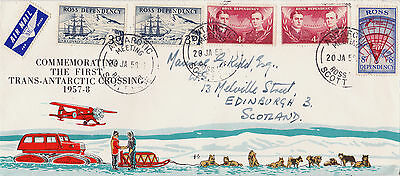 Ross Dependency : First Trans-Antarctic Crossing Commemorative Cover (1958)
