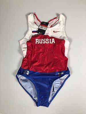 Nike Russian team running suit, swift skinsuit. new with tags Sz S and L