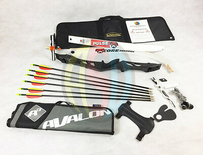 "Black 66"" Core Archery Jet Take Down Recurve Bow & Complete Package"