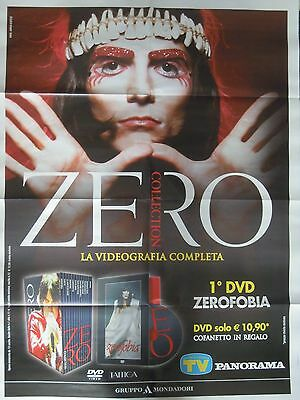 "Renato Zero - Poster Promo ""zero Collection"", 2016, Italy. Raro***"