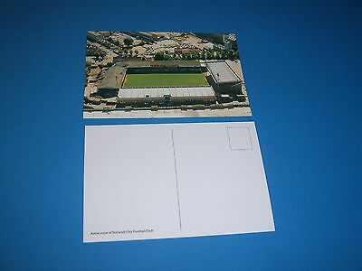 Colour postcard Aerial view of Norwich City Football Club stadium