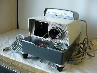 Vintage Braun Paximat S-500 slide projector, boxed