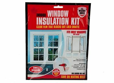 WINDOW INSULATION Shrink Fit Double Glazing Film DRAUGHT EXCLUDER KIT