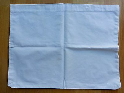"Vintage plain white cotton baby's pillow case 17"" by 13""."
