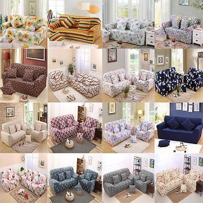 1 2 3 4 Seat Sofa Cover Slipcover Stretch Elastic Couch Furniture Protector Fit