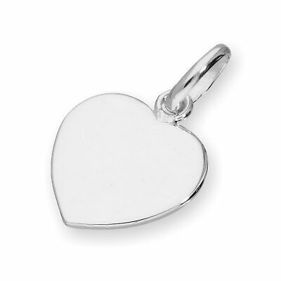 Real 925 Sterling Silver Engravable Heart Charm Love Valentines Personalise