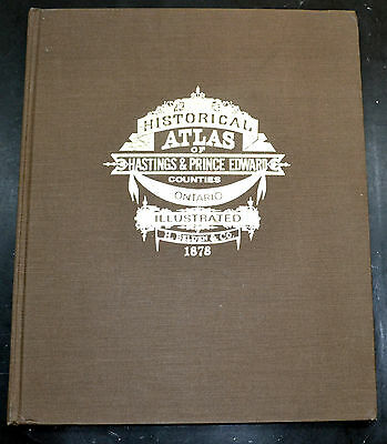 Reprint of 1878 Hastings & Prince Edward Ontario Canada Atlas Maps