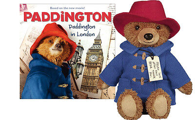"Paddington Bear Movie Official Licensed Paddington Teddy Bear 8.5"" with Book"