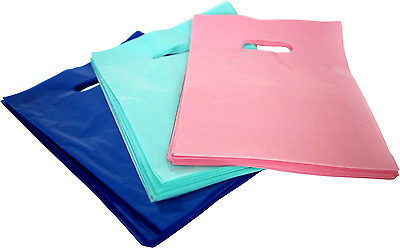 """150 Glossy Shopping Bags Merchandise 9""""x12"""" Retail Plastic Gift Bag with Handle"""