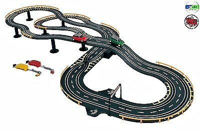 Electric Racing Set Race Car Cooper Control Track Battery Power 2 Player Chase