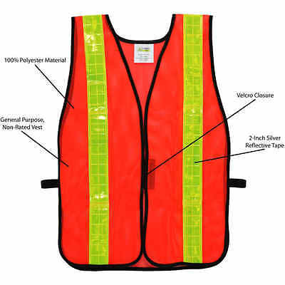 """Cordova Non-Rated Mesh Safety Vest with 2"""" Reflective Tape"""