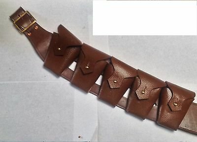 BRITISH ARMY 1903 pattern Bandolier, Genuine real Pebbled Leather