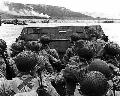 11x14 World War II Photo: American Troops Prepare to Land at Normandy, 1944