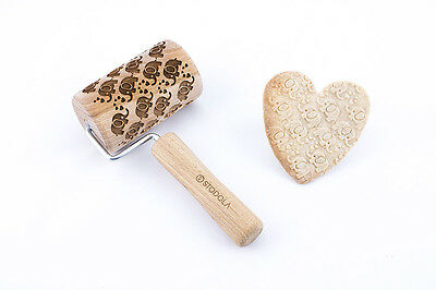 One handle mini elephant – Engraved rolling pin for cookies embossing roller