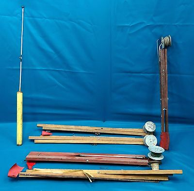Vintage Ice Fishing Tip-ups Lot of Fishing Rods/Reels (8)