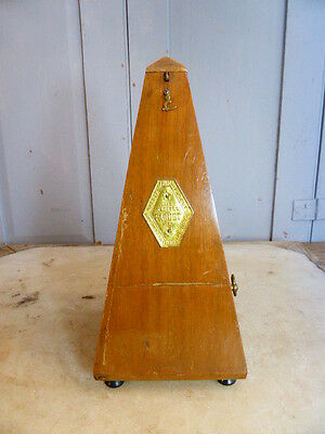 Antique French wooden metronome