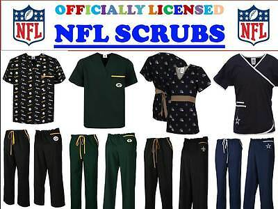 Nfl Scrub Top-Nfl Scrub Pants-Nfl Scrubs-All Teams-Nfl Football Scrubs-C-D Teams