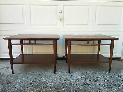Pair Of Mid Century Modern End Tables By Lane