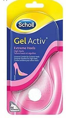 Scholl Gel Activ Extreme Heels 1 Pair Womens Comfy Insoles Free Fast P&P Active