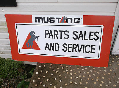 Vintage 1990s Mustang Advertising Metal Sign. Horse Sales Service. LOOK