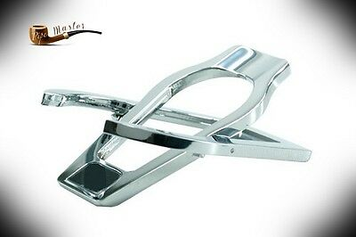 CHROME  STAND / RACK / REST - HOLDER for 1 Single Smoking Pipe  Steel  NEW BOXED