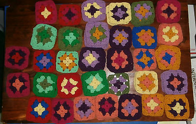 """101 Granny Squares Lot 3.5"""" Multicolor Afghan"""