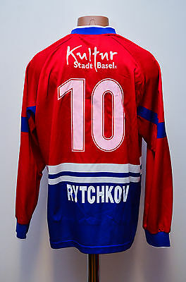 Basel Switzerland 1997/1998 Home Football Shirt Jersey Maglia Nike Rytchkov #10