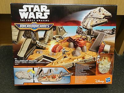 Brand New Star Wars The Force Awakens Micromachines Millennium Falcon Playset