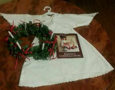 American Girl Pleasant Company Doll Kirsten's St Lucia Christmas Outfit Wreath