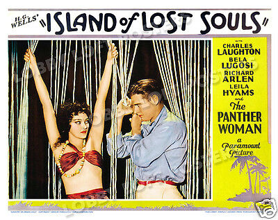 ISLAND OF LOST SOULS LOBBY SCENE CARD #4 POSTER 1932 aka THE ISLAND OF DR MOREAU