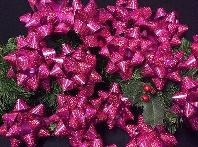 "15 Large Cerise ""gift Decoration Bows"" Wrapping. Mothers Day/birthday. 14 Loop"
